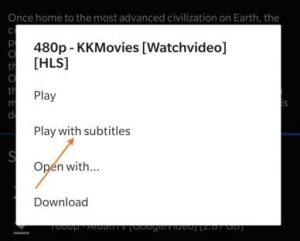 Cinema HD Subtitles Not Loading